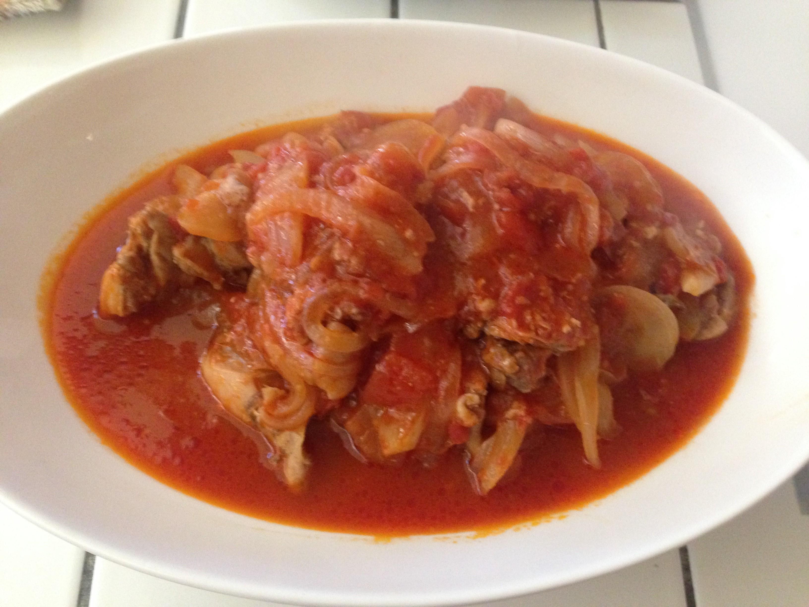 男の簡単料理 13皿目「鶏肉のトマト煮」